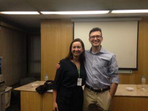 Lucas with his supervisor Prof. Elisa Brietzke